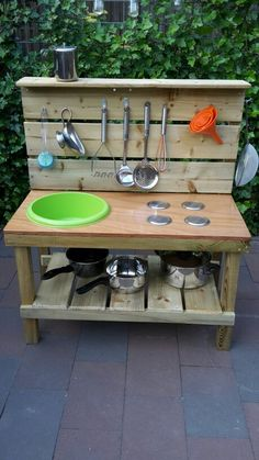 If you are looking for Outdoor Kids Kitchen, You come to the right place. Here are the Outdoor Kids Kitchen. This post about Outdoor Kids Kitchen was posted under the. Outdoor Play Kitchen, Mud Kitchen For Kids, Kids Outdoor Play, Outdoor Play Spaces, Backyard Kitchen, Kids Play Area, Backyard For Kids, Outdoor Fun, Diy Kitchen