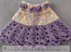 Free Form Stitching: Free Pattern - Crochet Ra Ra Skirt - 1 to 3 years old