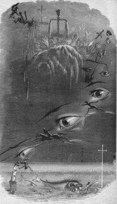 """A Dream of Crime & Punishment"" (1847) J.J. Grandville (Jean Ignace Isidore Gérard) [engraving]"
