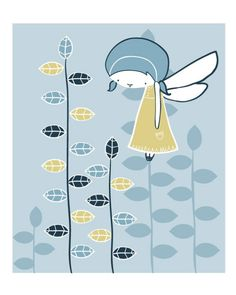 Blue Fairy print by arian on Etsy, $15.00