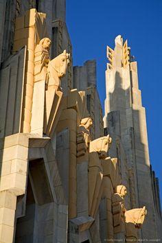 The Boston Avenue Art Deco Church, Downtown Tulsa, Oklahoma.