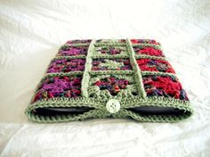 Crocheted Granny Square 13 inch Laptop Sleeve  by woolandwhatnot