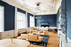 I like the paint color- Contemporary Design Meets Classic Design At The Nobis Hotel Copenhagen - Design Milk