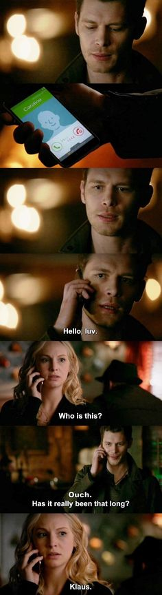 "Honestly, caroline, who else greets you that way with that awesome voice? ""the vampire diaries"" (tvd - klaus (joseph morgan) & caroline (candice king) Vampire Diaries Memes, Serie The Vampire Diaries, Vampire Diaries Poster, Vampire Diaries Wallpaper, Vampire Diaries Damon, Vampire Diaries The Originals, Caroline Forbes, Klaus And Caroline, Joseph Morgan"