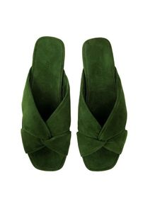 Alumnae Soft X Slide Mule in Coma Verde