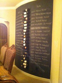 pottery barn inspired wine wall