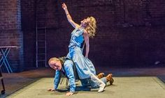 Living for the moment … Mark Hadfield and Michelle Fairley in Road by Jim Cartwright at the Royal Court, London.