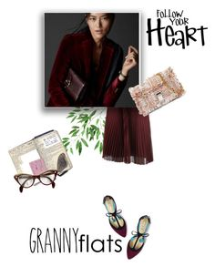 """""""follow your heart"""" by theworldisatourfeet ❤ liked on Polyvore featuring Prada, Boden, Massimo Dutti, Proenza Schouler, Love Quotes Scarves, Elsa Schiaparelli and grannyflats"""