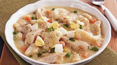 Progresso® broth provides a simple addition to this slow cooked chicken and dumplings recipe. Perfect for a hearty dinner.