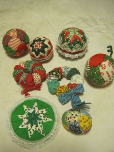 HANDMADE Quilted Cloth/STAR DESIGN Christmas Ornaments LOT OF 7 | Collectibles, Holiday & Seasonal, Christmas: Current (1991-Now) | eBay!