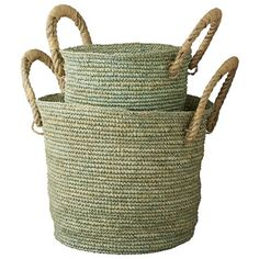 Lene Bjerre basket set - just perfect for artificial plants.