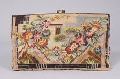 1930's Art Deco Needlework Clutch Bag   From a collection of rare vintage handbags and purses at http://www.1stdibs.com/fashion/accessories/handbags-purses/