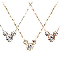 Mickey Mouse Diamond Icon Necklace - 18K - Large $5,925.00