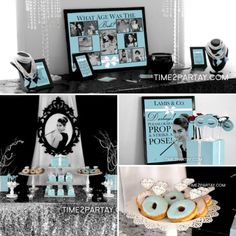 Bridal Shower Ideas on Decorations, Themes, Bridal Shower Favors and Games, FREE Printable Bridal Shower Games, Printable Favors Bridal Shower Decorations, Bridal Shower Favors, Bridal Shower Invitations, Tiffany Theme, Tiffany Party, Audrey Hepburn, Tiffany Und Co, Tiffany Baby Showers, Got Party