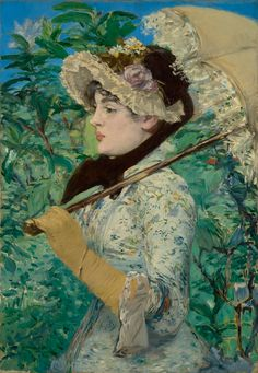 Jeanne (Spring); Édouard Manet (French, 1832 - 1883); France; 1881; Oil on canvas; 74 × 51.5 cm (29 1/8 × 20 1/4 in.); 2014.62; J. Paul Getty Museum, Los Angeles, California