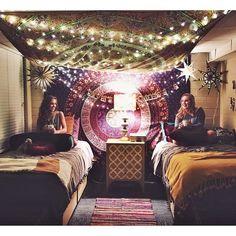 boho twinkle lights dorm. OBSESSED