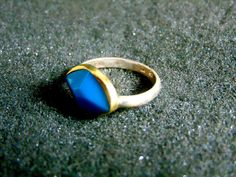 Silver Gold Ring,Sterling Silver 18k Gold and Turquoise Statement Ring,Womens Gemstone Rings,Gift for Her,Artisan Jewelry,Greek Art by ArchipelagosBreeze on Etsy