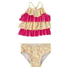 My first collection of target swimwear is starting to hit Target.com! Very exciting!    Circo® Infant Toddler Girls' Ruffled Tankini Set