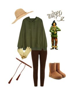 """""""Modern DIY Scarecrow costume"""" by ichelle-montoya on Polyvore featuring UGG, Calypso Private Label, Ralph Lauren Black Label, Express and modern"""
