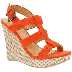 Call It Spring® Geise Wedge Sandals Orange ❤ liked on Polyvore