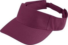Augusta Sportswear Youth Self Fabric Sport Twill Visor. 6226 Description   100% pre-washed cotton twill, Three panels, Self-fabric sweatband folds down for easy embellishment, Pre-curved bill, Hook and loop fastener.