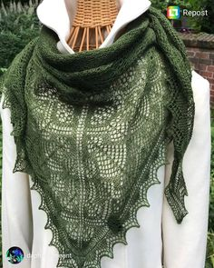 I just had to share this beautiful Shetland Forest Garden shawl made by Such a gorgeous colour and fine lace 💚💚💚 You can… Forest Garden, Shawl, Colour, Knitting, Lace, Beautiful, Instagram, Fashion, Woodland Garden