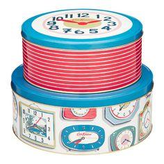 Cath Kidston clock tins.
