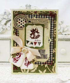 Merry Christmas...Handmade Card. $7.50, via Etsy.