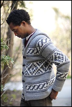 Rockaway by brooklyntweed, via Flickr  cowichan cardigan men knitting pattern