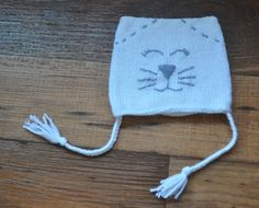 Items similar to Kitty cat hat with ties on Etsy Cat Hat, Ties, Winter Hats, My Etsy Shop, Kitty, My Love, Creative, Handmade, Stuff To Buy
