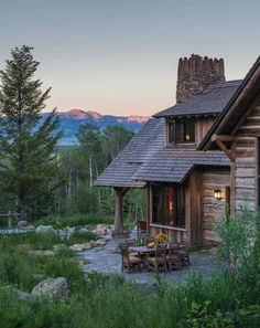 Beyond beautiful rustic mountain home with fabulous views of the Tetons Wyoming Mountains, Villas, Colorado Cabins, Cabin In The Woods, Mountain Homes, Mountain Cabins, Mountain Range, Cabins And Cottages, Small Cabins