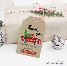 Christmas Red Truck, Christmas Birthday Party, Christmas Thank You, Farm Birthday, Christmas Photo Cards, Christmas Fun, Photo Birthday Invitations, Birthday Party Favors, First Birthday Parties