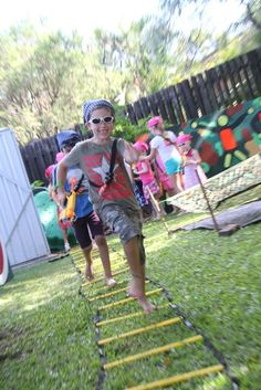 Nerf Party - then it was time for the obstacle course to practice their agility and speed