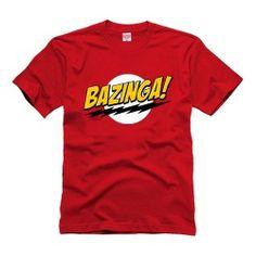 Camiseta Bazinga Sheldon Cooper, da série Big Bang Theory.