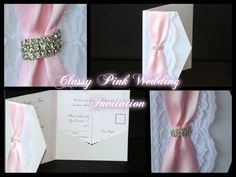 Classy Pink Wedding Invitation by PerfectlyPersonalise on Etsy Pink Wedding Invitations, Stationary, Classy, Trending Outfits, Unique Jewelry, Handmade Gifts, Cards, Etsy, Vintage