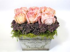 country french flower arrangements | Dried Floral Arrangement, French Country, Dried Flowers, Floral ...