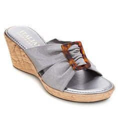 "Italian Shoemakers ""Abbie"" Fabric Wedge Sandal"
