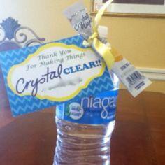 Crystal clear teacher gift