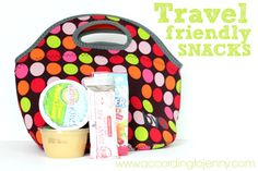 travel friendly snacks - earth's best applesauce and snack bars, juice box