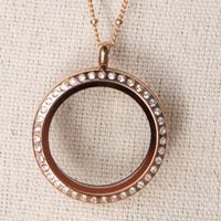 Inspired by runway looks, our large rose gold locket with crystals is THE hottest new trend. Spoil yourself or someone you love with a treasured limited edition rose gold locket.Our Rose Gold lockets are of the highest quality designed with Stainless steel and plated with 14krose gold. $38
