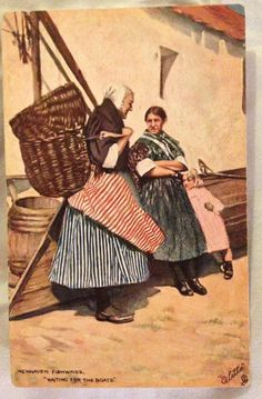 Newhaven Fishwives. Tuck's Postcards.