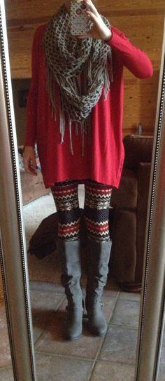Aztec leggings and Piko