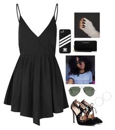 """""""Untitled #331"""" by nun-for-free ❤ liked on Polyvore featuring Glamorous, Ray-Ban, adidas, MICHAEL Michael Kors and Arizona"""