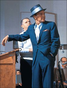 Frank Sinatra relaxes while recording at Capitol Records, Los Angeles