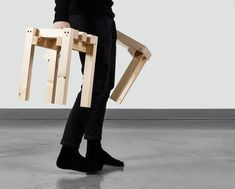 Dear M by Romain Voulet Furniture Making, Diy Furniture, Asian Interior, Bespoke Furniture, Wood Screws, My Design, Stool, Bench, Projects