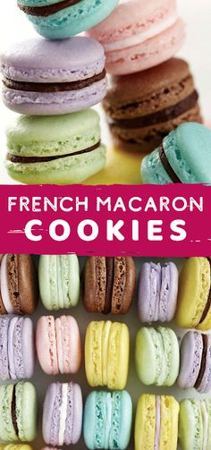Impress friends and family by making your own batch of French Macarons. Mix and match colors and flavors to create treats to best suit the occasion. - The ingredients and how to make it please visit the website Best Dessert Recipe Ever, Best Easy Dessert Recipes, Dessert Recipes With Pictures, Quick Easy Desserts, Easy Cookie Recipes, Sweets Recipes, Simple Recipes, Quick Recipes, Light Desserts