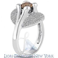 1.87 Carat Natural Fancy Cognac Brown Diamond Engagement Ring 14k White Gold - Fancy Color Engagement Rings - Engagement - Lioridiamonds.com
