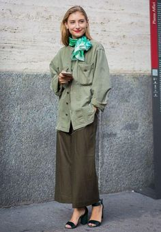 all green street style