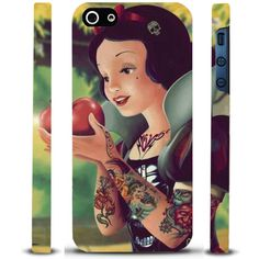 COVER BIANCANEVE TATTOO PER IPHONE 4 - 4S - 5 - 5s - 5c STAMPA 3D FULL HD ANCHE SUI LATI
