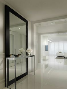 large hallway ideas hall contemporary with full length mirror contemporary floor. large hallway ideas hall contemporary with full length mirror contemporary floor mirrors Hall Mirrors, Hallway Mirror, Living Room Mirrors, Full Length Mirror Hallway, Long Mirror, Dark Hallway, Full Length Mirror Living Room, Large Bedroom Mirror, Dream Home Design